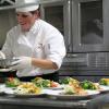 Kathryne – plating salads.